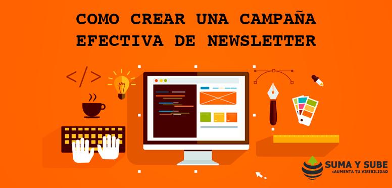 Como crear una campanya efectiva de newsletter